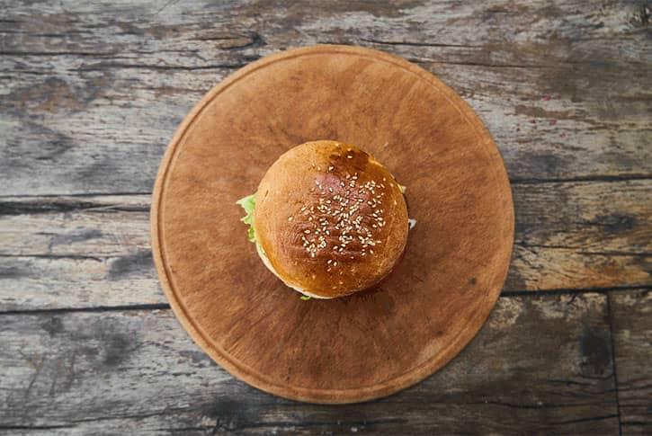 Hamburguesa vegana de berenjena, receta casera