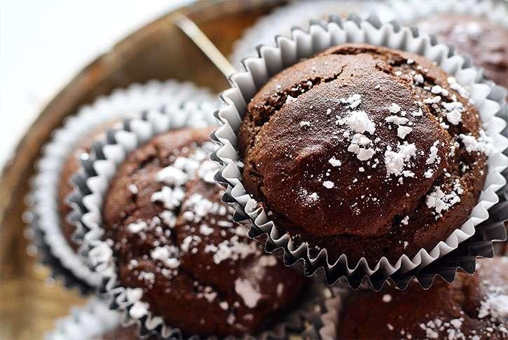 Magdalenas de chocolate caseras fáciles la receta. Muffins de chocolate